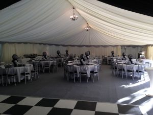 Black and white party with dance floor