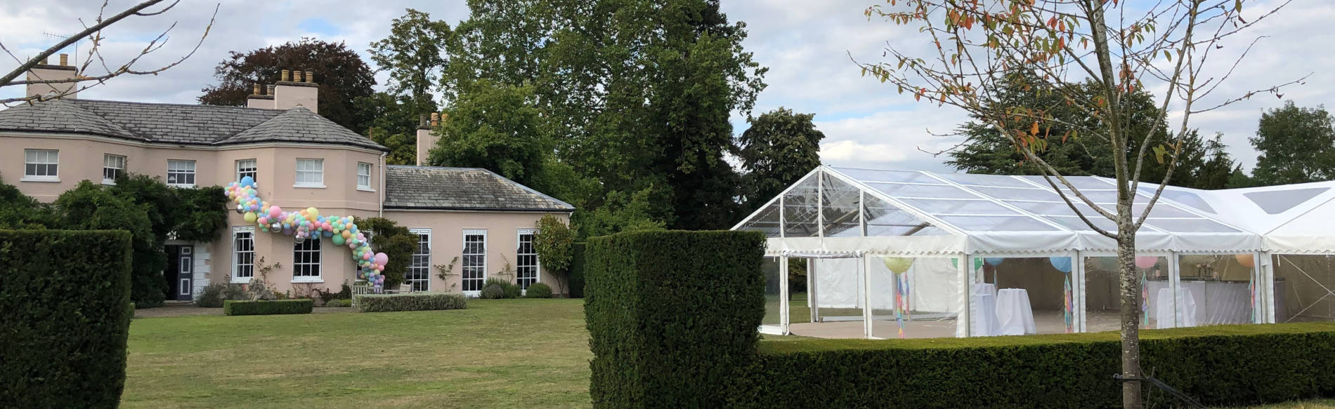 Clear span marquee Hampshire