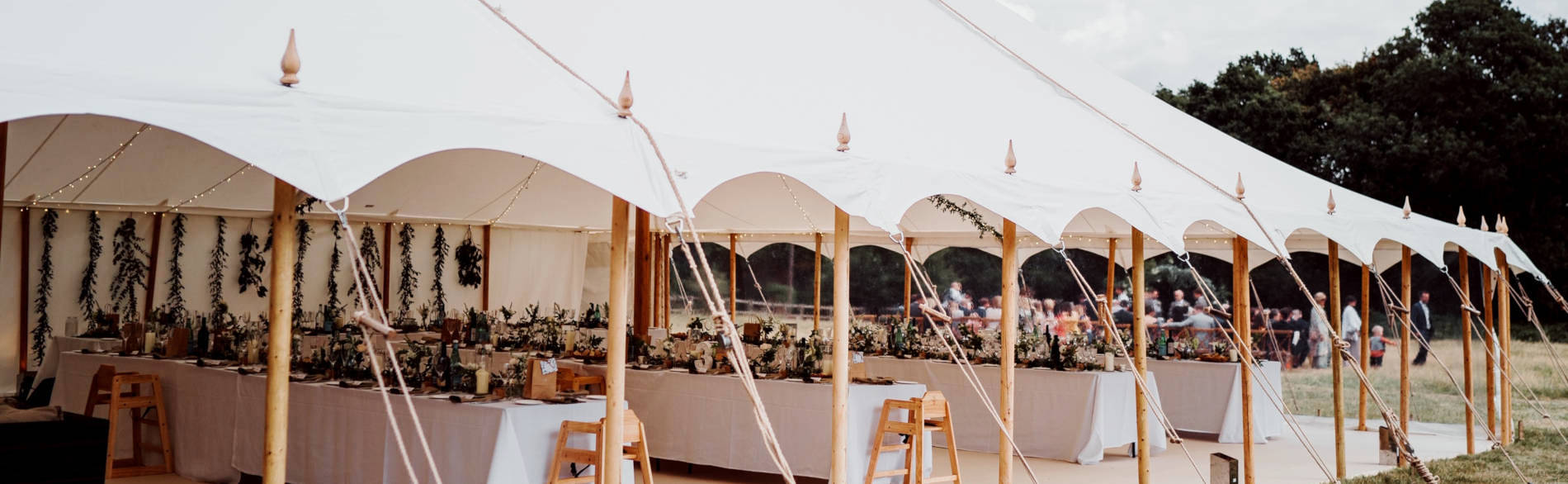 Wedding marquee furniture